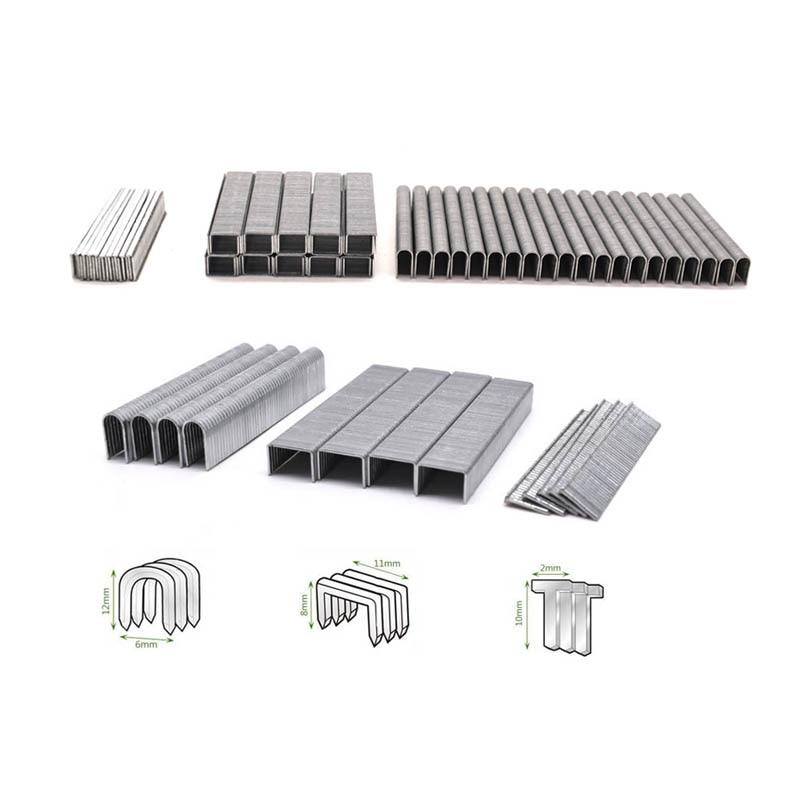 1000pcs T-nails U-staples Door-staples For 3 In 1 Manual Nail Staple Gun Furniture Stapler