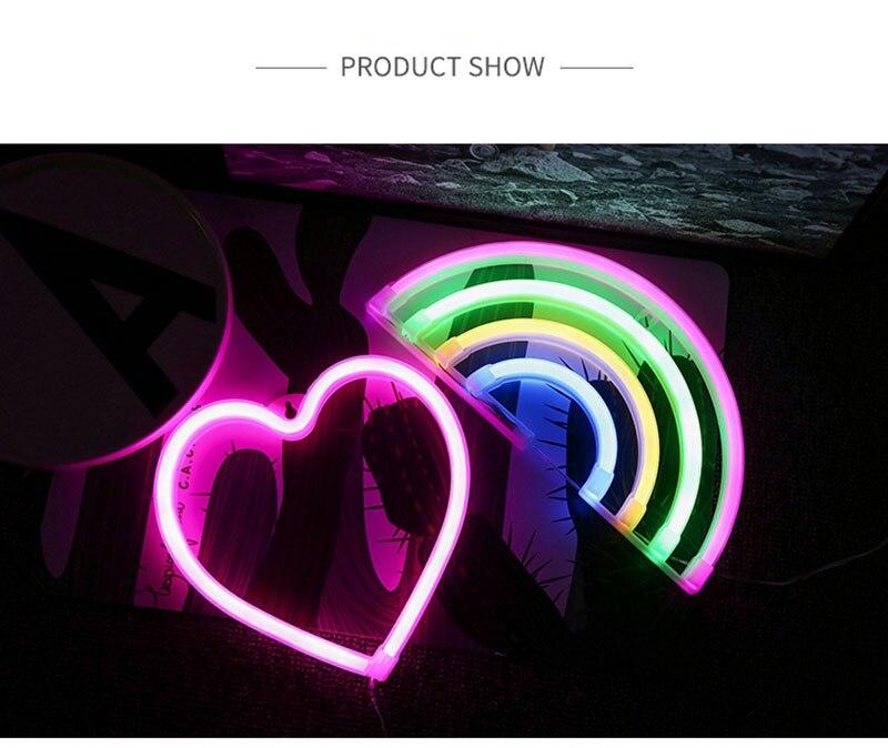 Colorful LED Neon Light Sign Wall Decor Lamp for Xmas Birthday Wedding Party Kids Room Living Room Wall Hanging Decor Lighting (5)