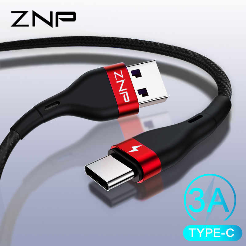 ZNP USB typu C kabel do Xiaomi Redmi Note 7 mi9 kabel USB C do Samsung S10 kabel szybkiego ładowania USB-C telefon komórkowy przewód zasilający