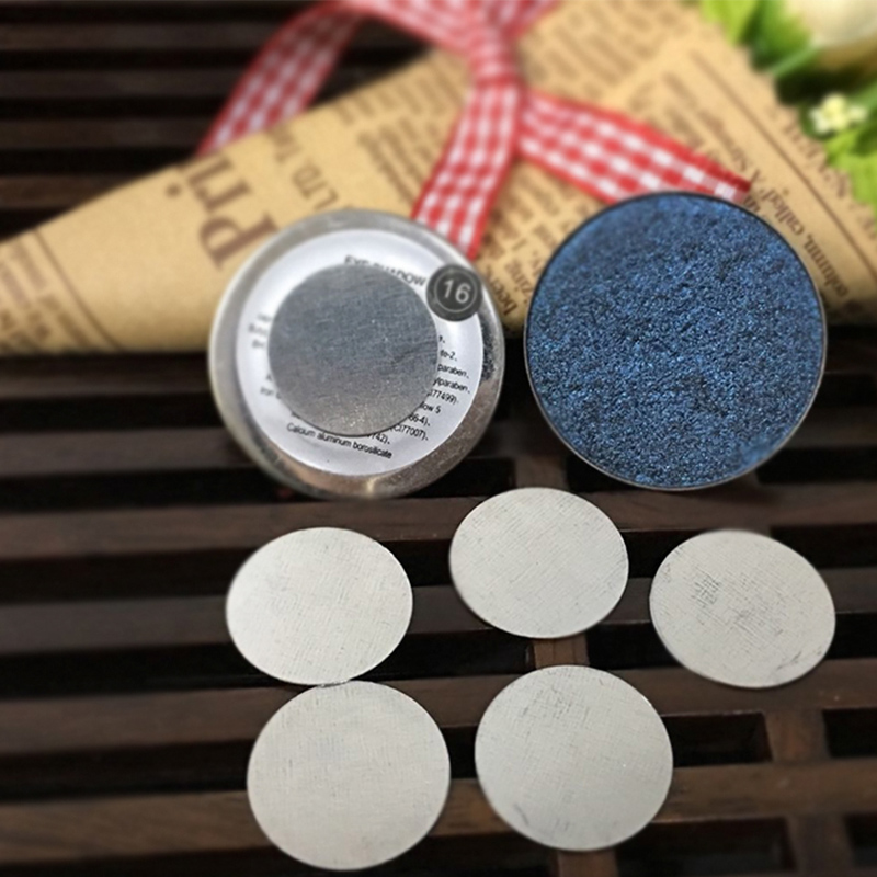 25 pcs round metal stickers for eyeshadowto hold your eye shadow on our magnetic eyeshadow palette tightly in makeup sets from beauty health on