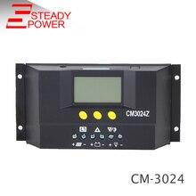 ЖК-дисплей 20A 30A 12 V/24 V дисплей регулятором солнечного заряда r PWM регулятором солнечного заряда контроллер CM3024
