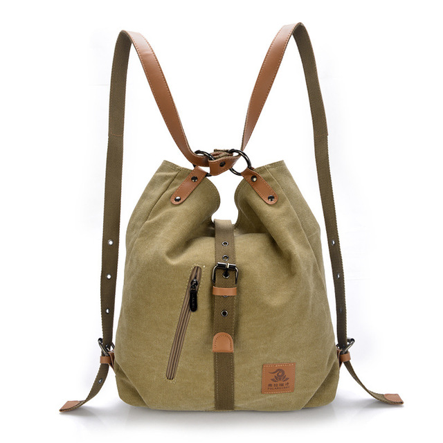 d3fdf080d944 Canvas Artisan Top Quality Women Canvas Backpack Bookbag Female Dual  Purpose Shoulder Bag Daily Travel Backpacks Crossbody Bags