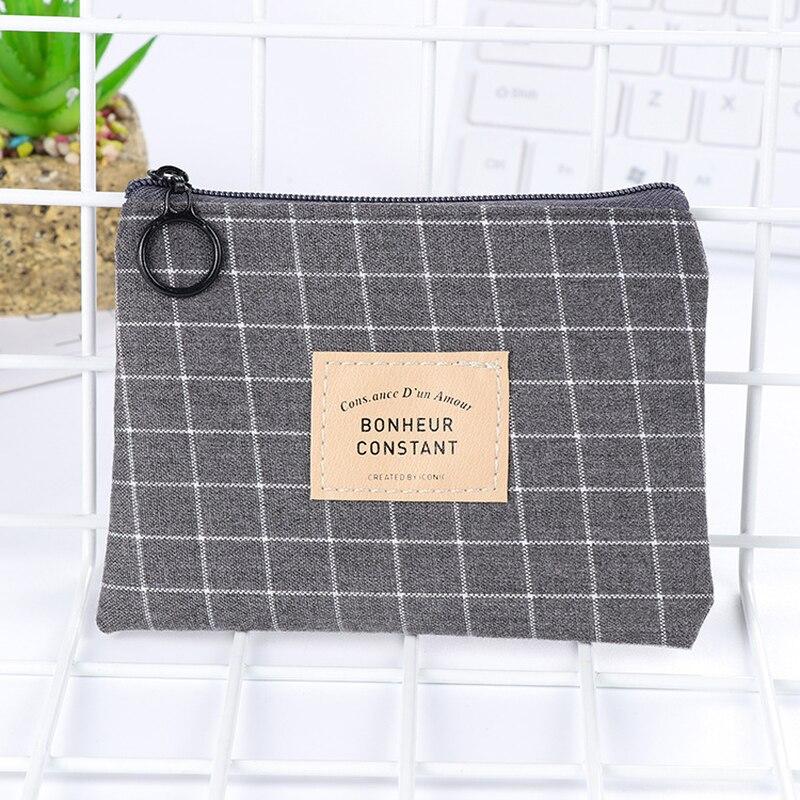 1 pc Unisex Lona Bolsa Cartão Chave Mini Bolsa Da Bolsa Saco de Lona Pequena bolsa Com Zíper Bolsa Da Moeda Da Carteira Titular Do Cartão de Quatro cores Disponíveis