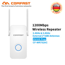 5Ghz Dual band dual antenna 1200Mbps gigabit WiFi Repeater WiFi Signal Amplifier Wireless Router Wi Fi Range Extender Booster AP все цены