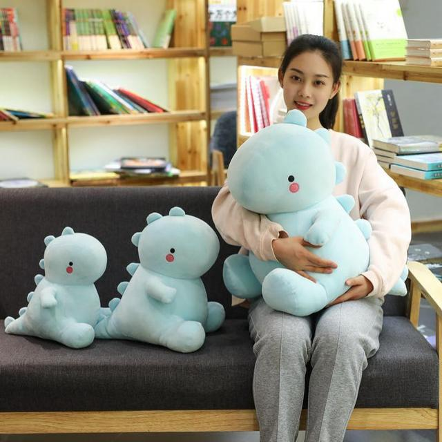 Acompanhar grande Bonito Dos Desenhos Animados do Dinossauro de Brinquedo de Pelúcia Do Bebê Dormindo Travesseiro Dragão boneca de pelúcia Bicho de pelúcia Para Meninas Crianças Chilren Presente