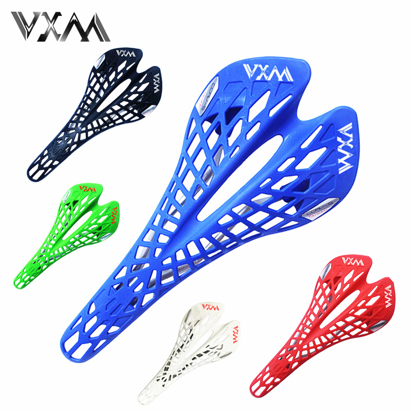 VXM Road Bicycle Saddle Mountain Bike Saddle Bicycle Breathable Cusion Cycling Fixie Gear Bike Seat High Quality Bicycle Parts tioga bike parts cojines good quality mountain road bike mtb bicycle cycling carbon rail saddle seat fixed gear 120g 2 colors