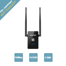 COMFAST Wireless WIFI Repeater 750Mbps Router Dual Band 2.4G/5.8G 802.11AC WI-FI Repeater Wi fi Roteador Signal Booster Extender