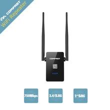 COMFAST WIFI Repetidor Inalámbrico a 750 Mbps Routers de Banda Dual 2.4G + 5 GHZ 802.11AC WIFI Repetidores Wi fi Roteador extender Amplificador Wifi