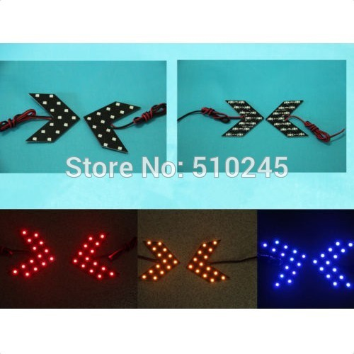 30X high quality 3528 SMD 14 LED Arrow Panels Light Car Side Mirror Turn Signal Indicator Light free shipping