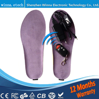 2017 NEW Heating Insole With Wireless Winter Women Insoles Remote Control Charge Insoles Size EUR 41