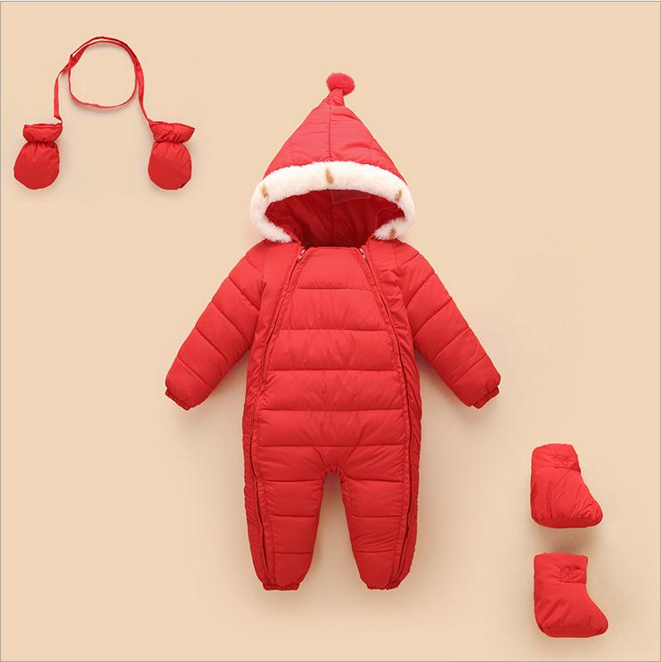 winter long sleeve romper baby new born infant Climbing clothes romper kids winter newborn jumpsuit unisex winter baby clothes long sleeve hooded baby romper one piece covered button infant baby jumpsuit newborn romper for baby