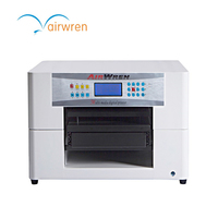 Digital Dtg Flatbed A3 Size Inkjet Printer For Insole Printing Machine Press For T Shirts