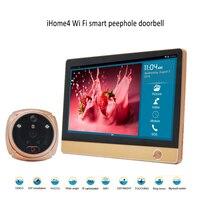 Amélioré Smart home système de sécurité WiFi Sonnette Caméra, WIFI interphone vidéo porte téléphone, porte d'entrée caméra de sécurité systèmes