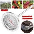 New20 дюймов 50 см длина компост почвенный термометр для пищевых продуктов класса премиум из нержавеющей стали металлический измерительный де...