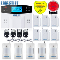 DHL Free Shipping Support English And Russian Spanish French Voice Manual Home Security GSM Alarm System