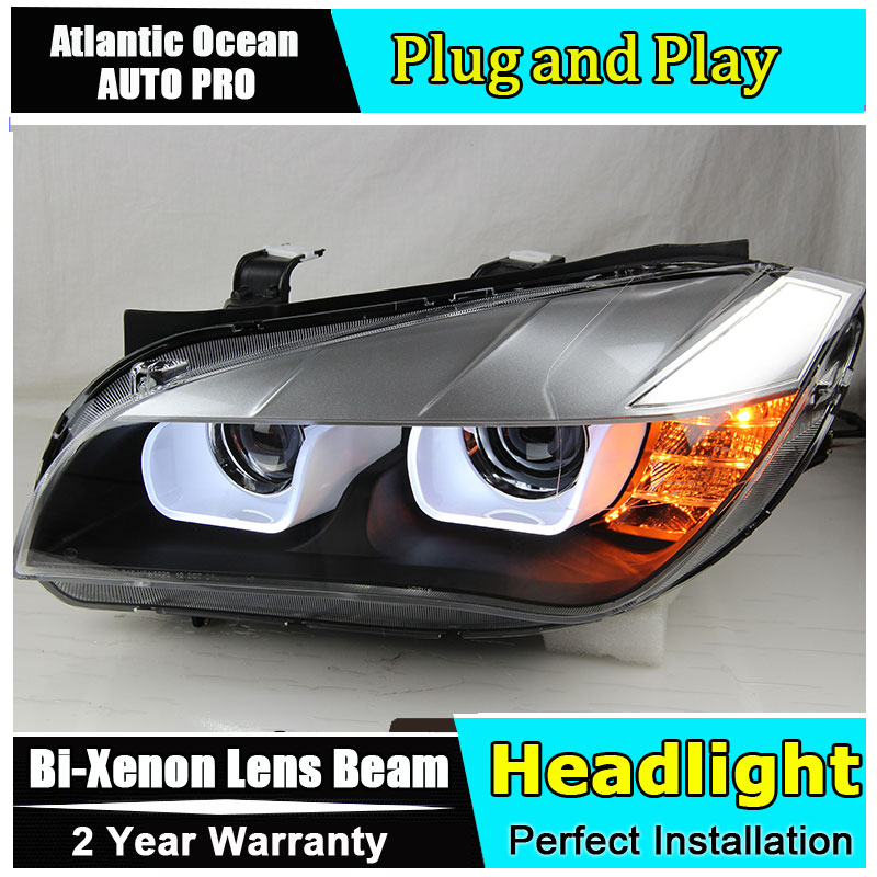 Car Styling Head Lamp for BMW E84 X1 led headlights 2009-2014 E84 led drl HID KIT Bi-Xenon Lens low beam car styling head lamp for bmw e84 x1 led headlight assembly 2009 2014 e84 led drl h7 with hid kit 2 pcs