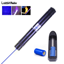 Buy Laser Pointer Powerful 50000mW Purple Lasers Sight Lazer Pen Fixed Focus Sky star  for 2×16340 battery