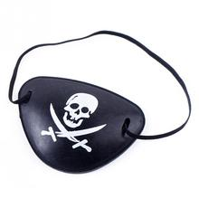 Fashion Plastic Toy Eyepatch Halloween Carnival Ball Accessory Blinder Pirate One-eye Patch  8*6cm