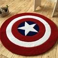 Акрил Капитан Америка щит ковер мультфильм детский коврик для гостиной коврик в прихожую диван круг компьютерная подушка коврик детская по...