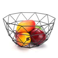 Nordic Style Fruit Basket Wire Decorated Metal Storage Basket Black Display Bowl Fruit Rack Vegetable Table Dining Decoration 40|Storage Baskets| |  -