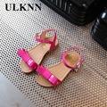 ULKNN  Summer Children Princess Sandals Kids Girls Wedding Shoes High Heels Dress Shoes Party Shoes For Girls Leather Bowtie