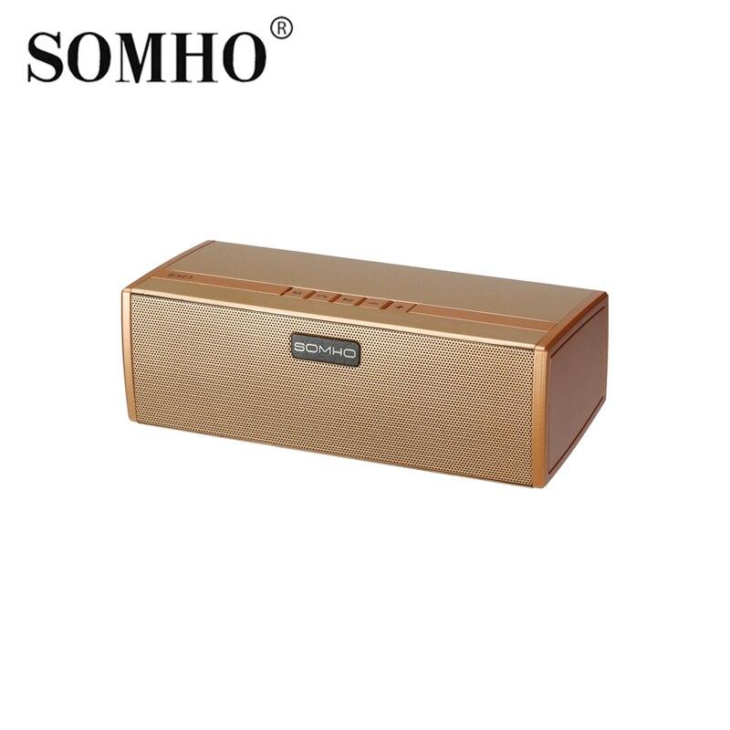 Original SOMHO S323 Bluetooth Wireless Speaker Super Bass Portable Speakers with FM Radio