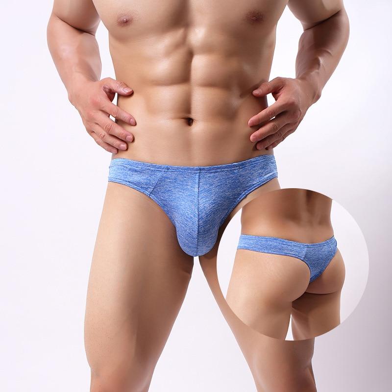 Mens Underwear Low Waist Solid Color Underpants Soft Briefs Panties,4,XXL,United States
