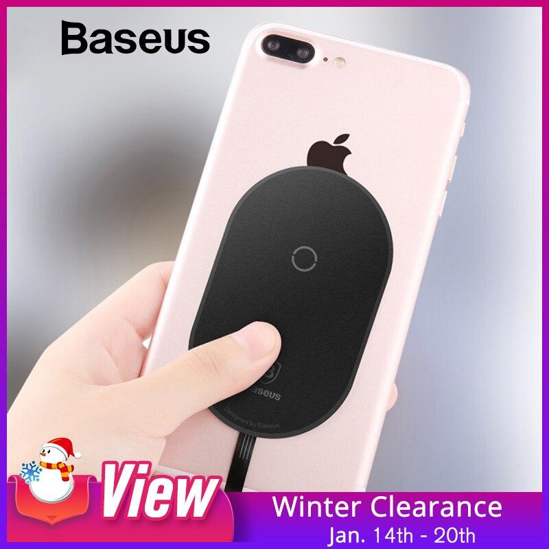 Baseus QI receptor cargador inalámbrico para iPhone 7 6 5 Samsung a5 7 receptor de carga inalámbrico para Xiaomi 5 6 redmi 4x oneplus lg