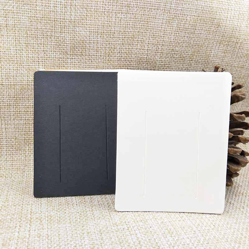 100pcs 7*9cm White/kraft/black DIY Blank Hair Clip Display Card Women Barrette Products Package Card Personalized Logo Available