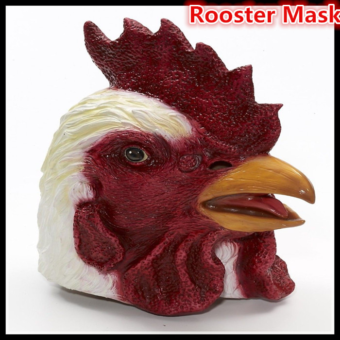 7366fe6d7 شحن مجاني 100% ديلوكس اللاتكس قناع قناع اللاتكس الدجاج الديك الكبار نظرة  رأس الديك حيوان كامل قناع الوجه الكامل واقعية