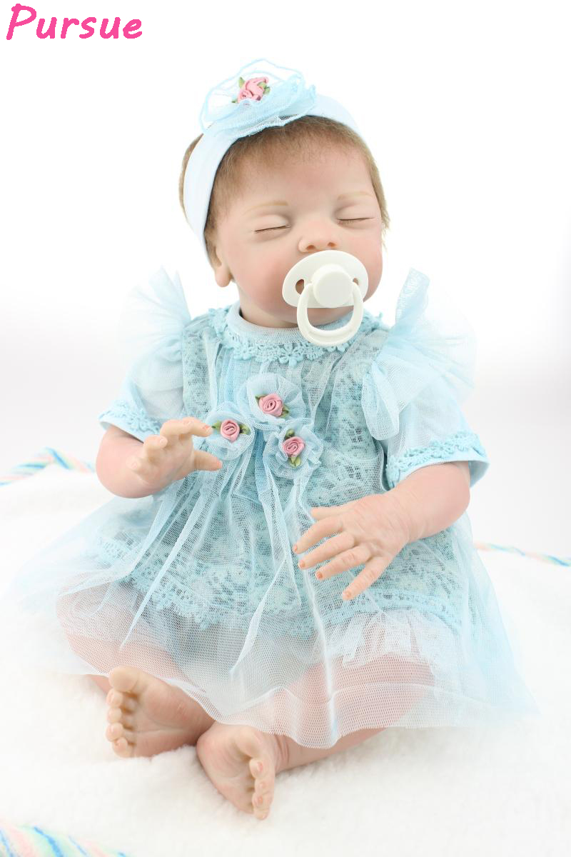 Pursue 52cm Soft Vinyl Reborn Baby Dolls Toys for Children Silicone Reborn Baby Dolls baby-reborn boneca bebe reborn menina doll цена