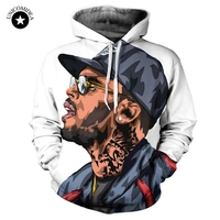 Unicomidea mannen Hoodie Chris Brown 3D Hiphop Zweet Shirt Hooded Truien Plus Size