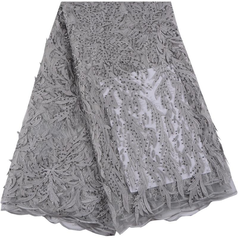 Gorąca sprzedaż afryki koronki tkaniny z 3D kwiat francuski koronki tkaniny i kamieniami najnowsze wysokiej jakości tiul tkaniny na sukni ślubnej 998 w Koronka od Dom i ogród na  Grupa 1