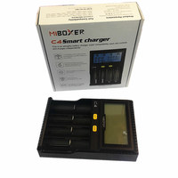 Original Miboxer C4 LCD Smart Battery Charger for Li ion IMR INR ICR LiFePO4 18650 14500 26650 AAA Batteries 100 800 mAh