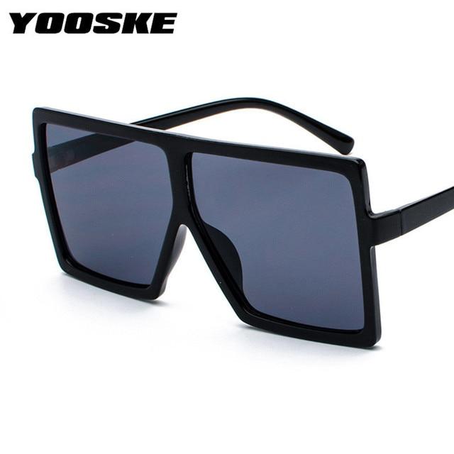 65740d5d05 YOOSKE Sunglasses Women Oversized Vintage Brand Designer Gradient Lens  Shades Sun Glasses Men Big Black Frame Glasses-in Sunglasses from Apparel  Accessories ...