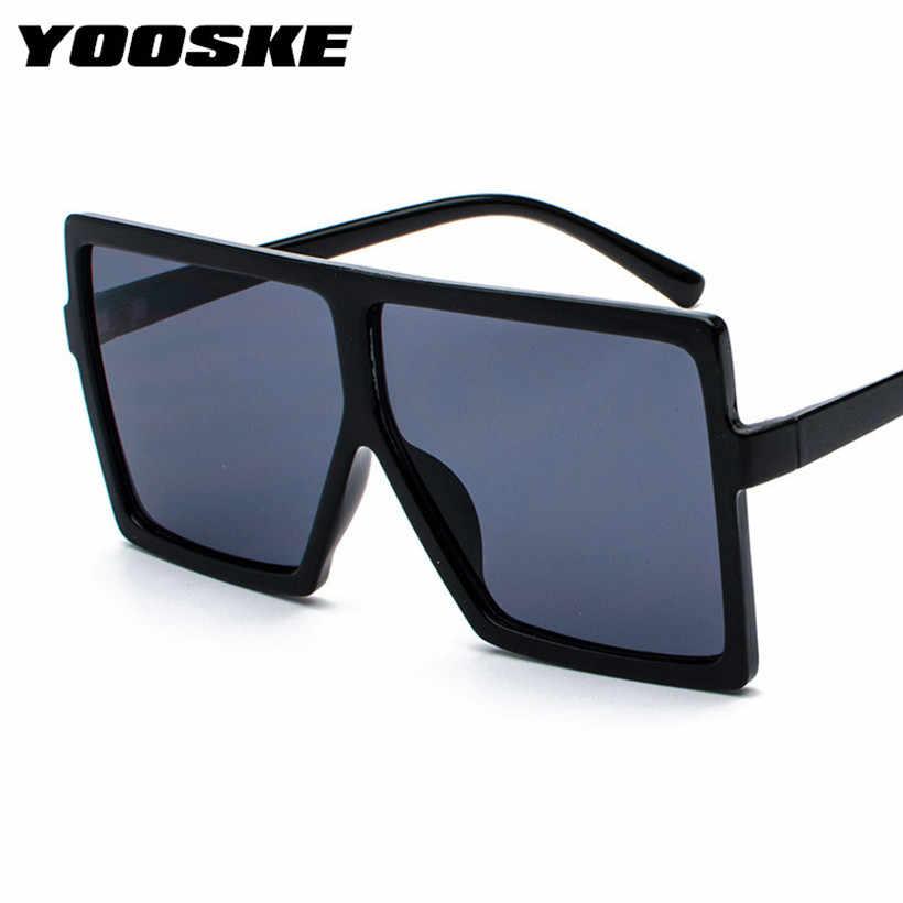 794af8c38731 ... YOOSKE Vintage Oversized Sunglasses Women Men Retro 90s Sun Glasses  Female Male Big Frame Black Eyewear ...
