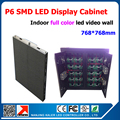 P6 tela led 768 mm * 768 mm gabinete display led tela interior parede de vídeo led rgb full color P6 levou módulo 32 * 16 pixel 1/8 scan