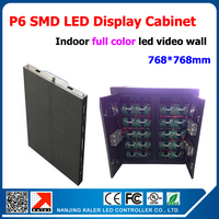 TEEHO P6 led screen 768mm*768mm led display screen cabinet indoor led video wall full color p6 led module 32*16 pixel 1/8 scan