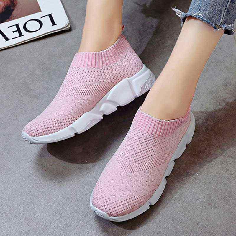 Mode Sneakers Vrouwen Trainers Casual Slip Sokken Schoenen Zomer Vrouwen Gevulkaniseerd Schoen Dames Sneakers Wit Zapatillas Mujer