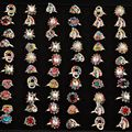 Wholesale Lot 30Pcs Crystal Ring Mix Sweet Cute Luxury Gem Rings Girl Women Party Accessories
