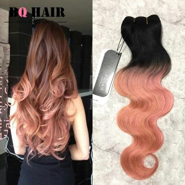 Bq Hair 8a Remy Bundles 1b Rose Gold Malaysian Body Wave Human Hair