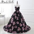 Florales únicos Vestidos de Baile de Long 2017 Flores Impresión vestido de Bola Ocasión Formal Vestidos de Fiesta prom Vestidos de Noche vestidos de gala