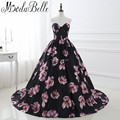 Unique Floral Prom Dresses Long 2017 Flowers Printing Ball Gown Formal Occasion Dresses Prom Party Gowns Evening vestidos gala