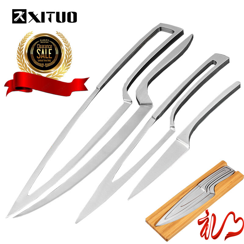 XITUO New Style 4pcs Multifunction Kitchen Knives Stainless Steel Knives Sets EDC Chef/Peeler/Boning/Cleaver/Utility Knife ToolsXITUO New Style 4pcs Multifunction Kitchen Knives Stainless Steel Knives Sets EDC Chef/Peeler/Boning/Cleaver/Utility Knife Tools