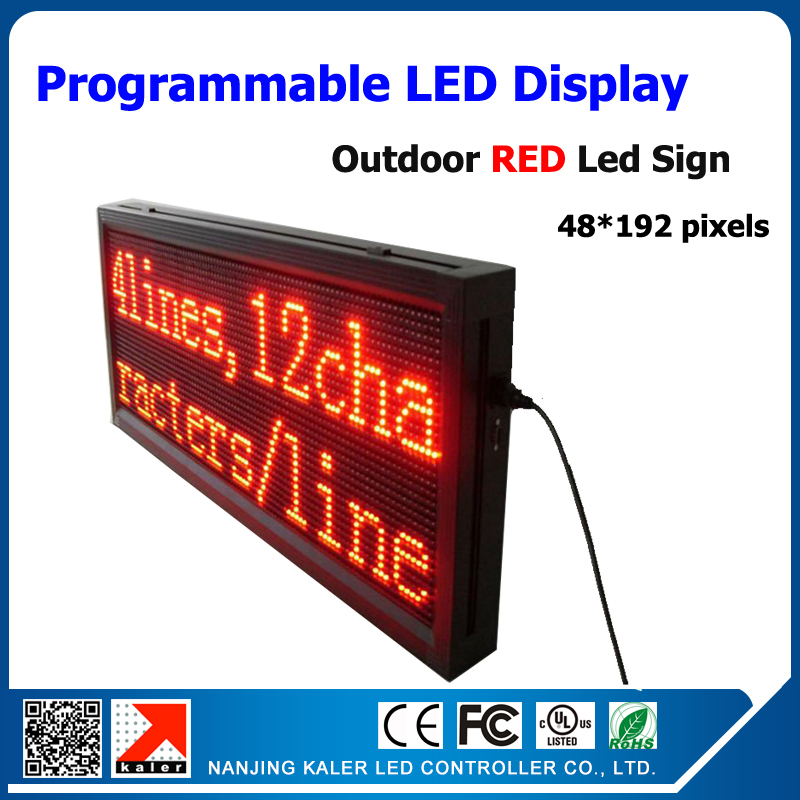 32*96 Pixel Resolution 1/4 Scan 40*104cm Single Red P10 Led Display Board Outdoor P10 Led Module 320*160mm