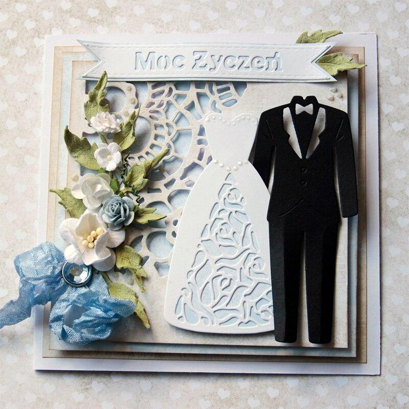 Metal Cutting Dies Stencil Embossing Wedding Invitation Card DIY Newlyweds