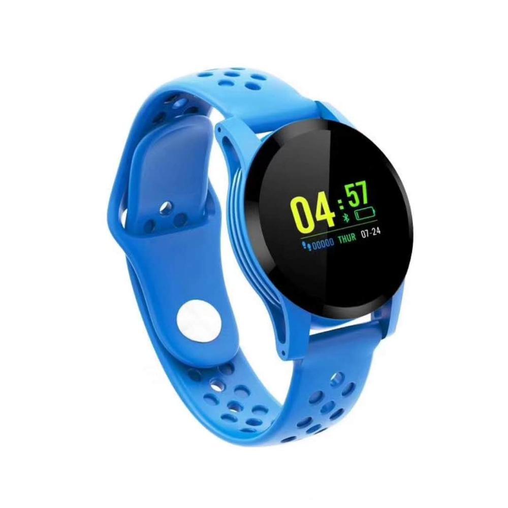 Q9 Смарт-часы водонепроницаемые кровяное давление сердечный ритм ip68 мужские Смарт-часы android часы фитнес-активность умные спортивные часы - Цвет: Синий