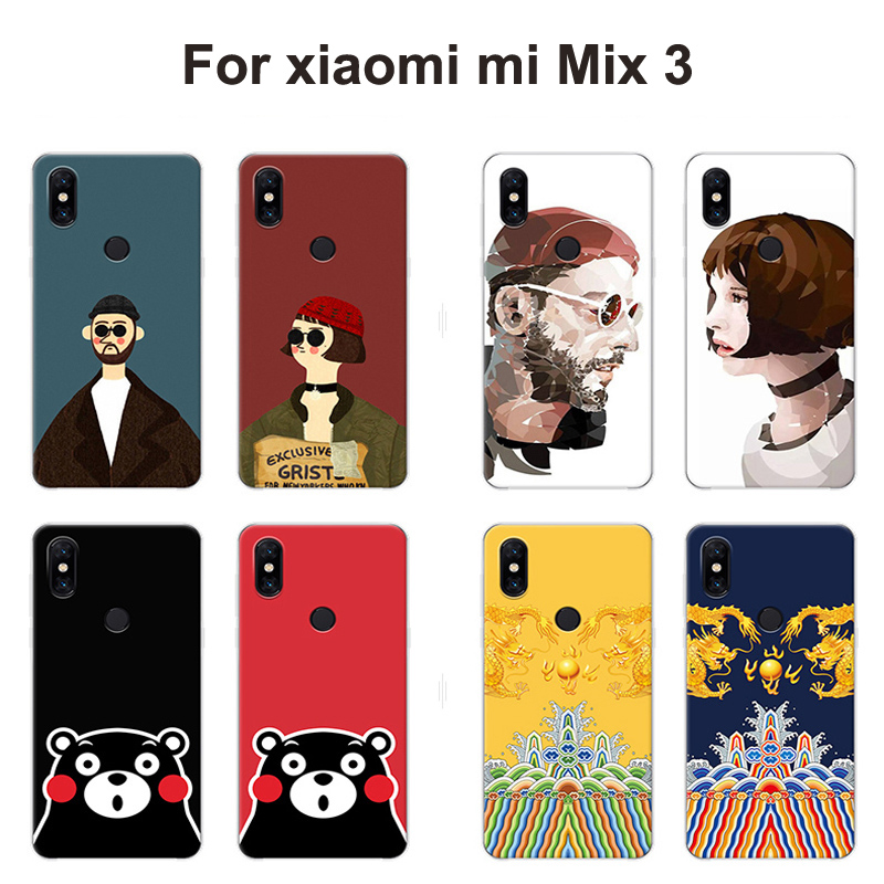 Mix 3 PC coque For xiaomi mi Mix 3 Case back cover Painted Leon killer cartoon hard phone case For xiaomi mi Mix3 shell casing