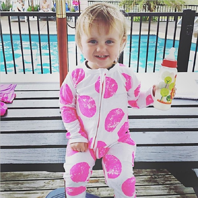 2017 Autumn Zipper Newborn Clothes Baby Girls Pajamas Romper Boys Sleepwear  Cotton Jumpsuit Infant Overall Top 5cd53eb5c