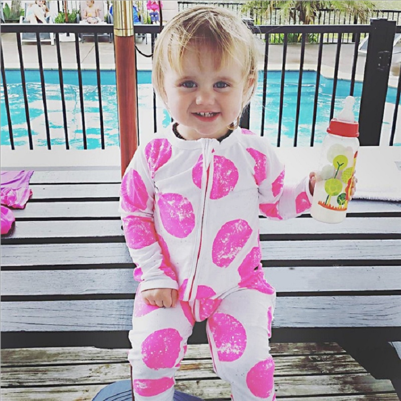 2017 Autumn Zipper Newborn Clothes Baby Girls Pajamas Romper Boys Sleepwear Cotton Jumpsuit Infant Overall Top Quality Roupas